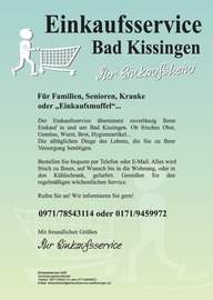 Prospekt Einkaufsservice Bad Kissingen (August - December 2017)
